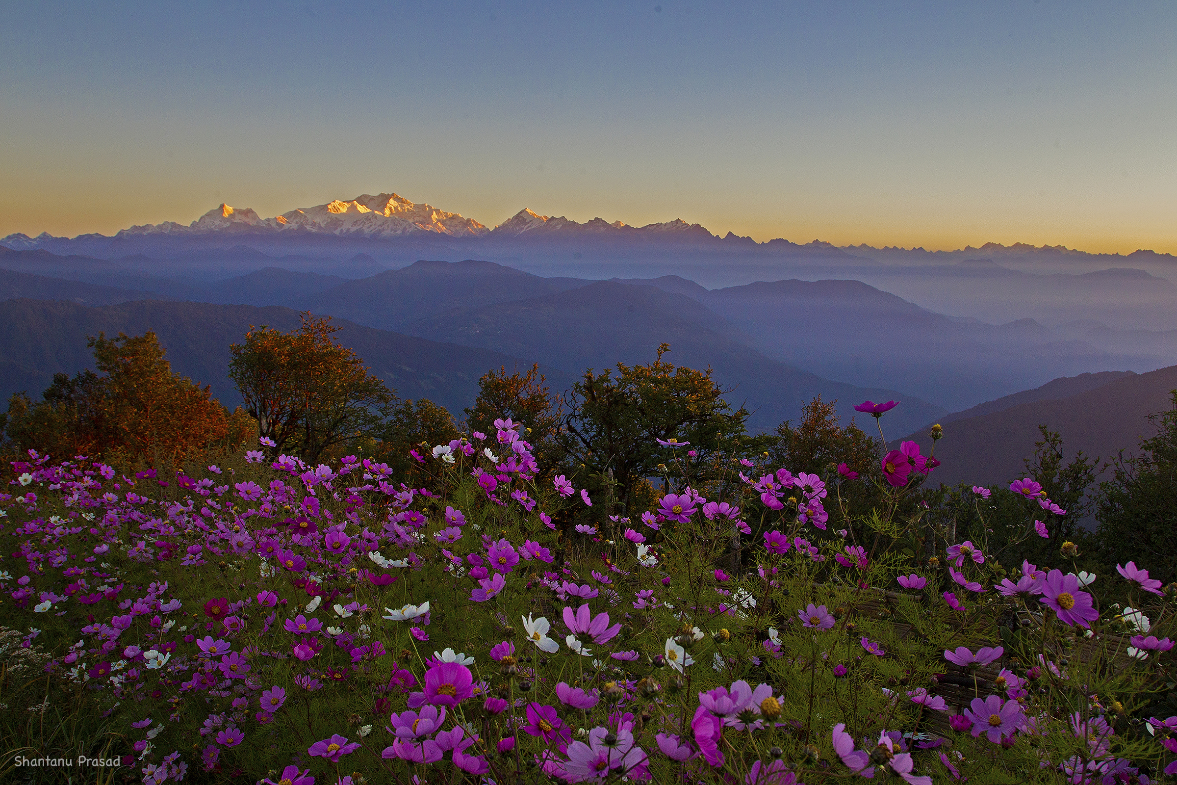 Sunrise : A Himalayan Spectacle : 4 of the World's Highest Peaks can be savoured here.